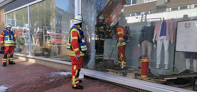 Feuer im Schaufenster