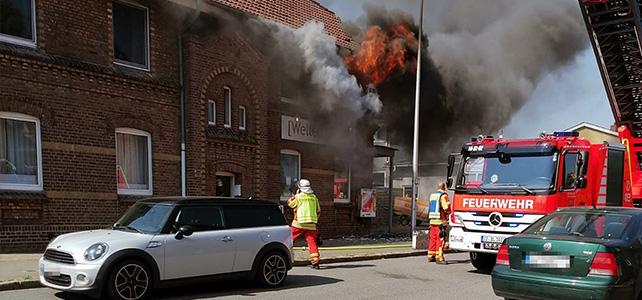 Ausgedehnter Wohnungsbrand