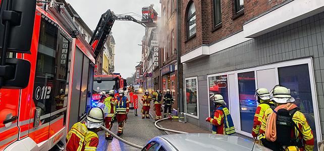 Wohnungsbrand in der Großen Paaschburg