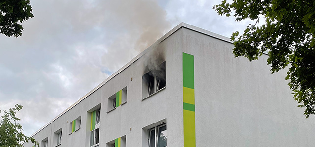 Zimmerbrand in Edendorf